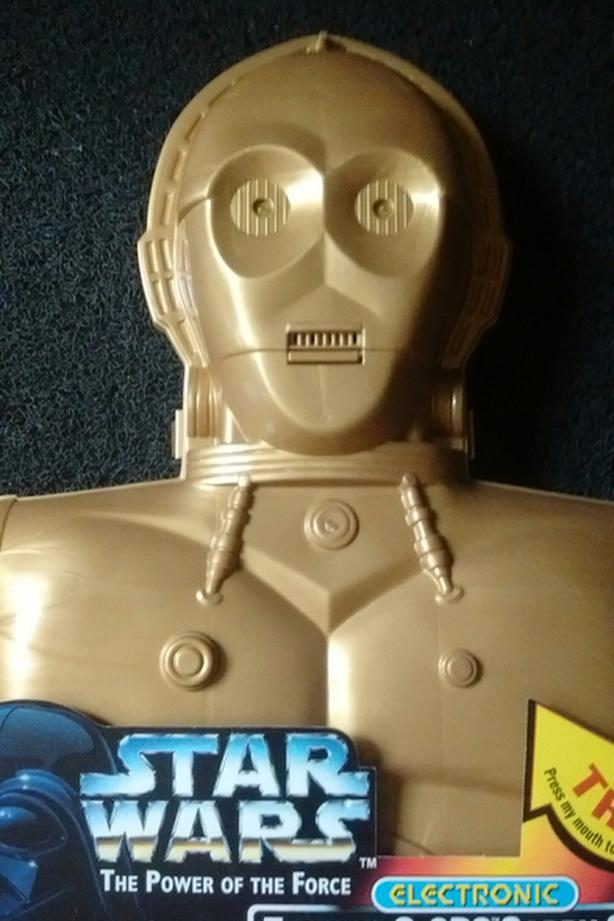 1996 KENNER THE POWER OF THE FORCE ELECTRONIC TALKING C-3PO CARRY CASE