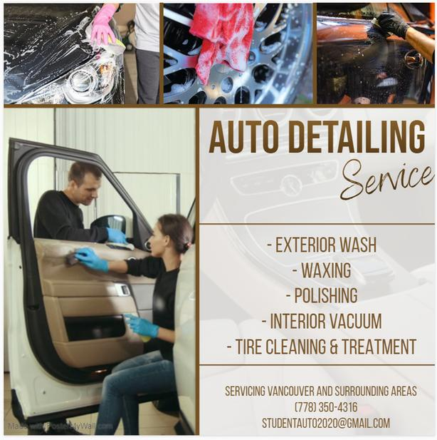 Offering at Home Auto Detailing