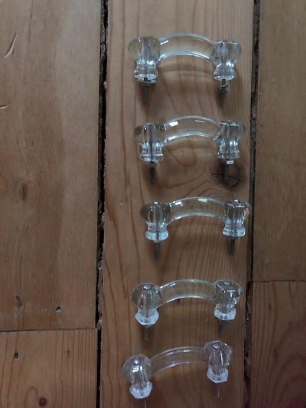 Victorian Glass Drawer Handles