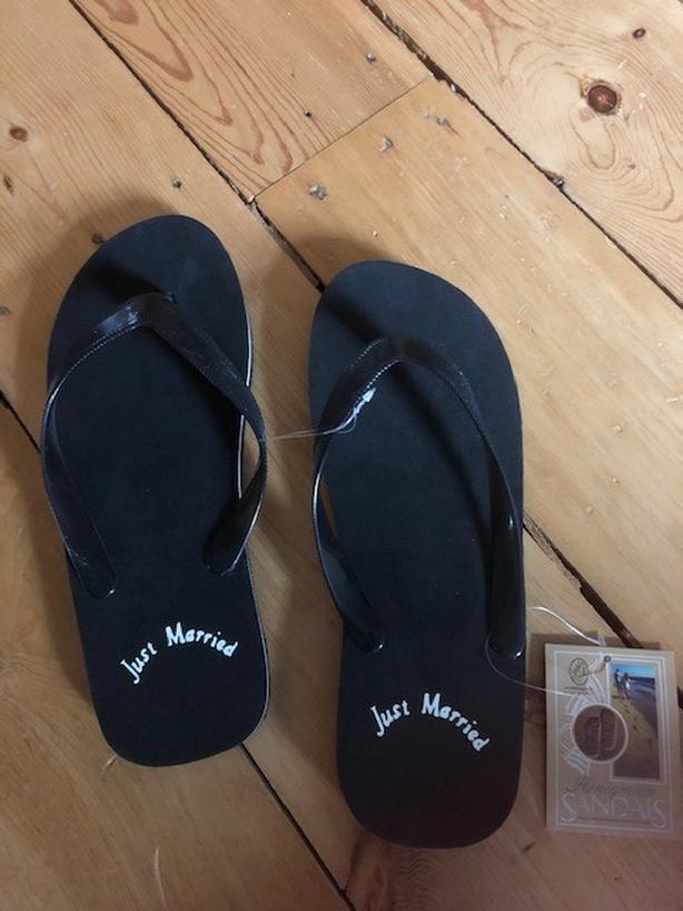 Wedding flip flops - brand new