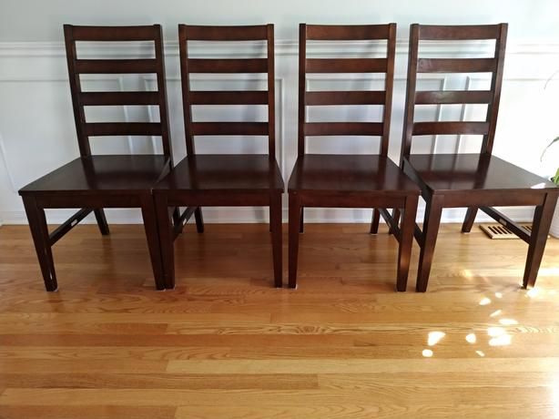 4 Solid Wood Dining Chairs (Price for all 4)