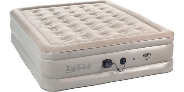 Roots Outdoor queen air mattress with built-in pump