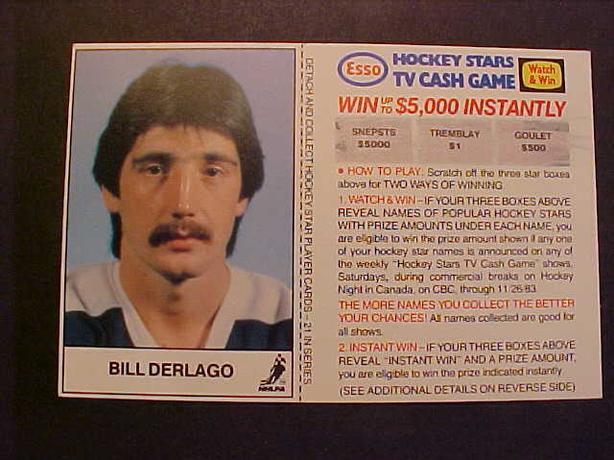 BILL DERLAGO HOCKEY CARD