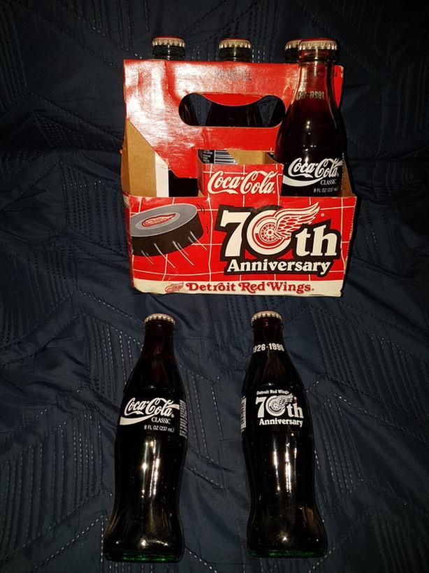 Detroit red wings 70th coke bottles