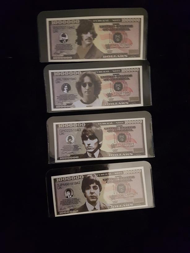 Beatles novelty notes lenon star Harrison mc cartnet