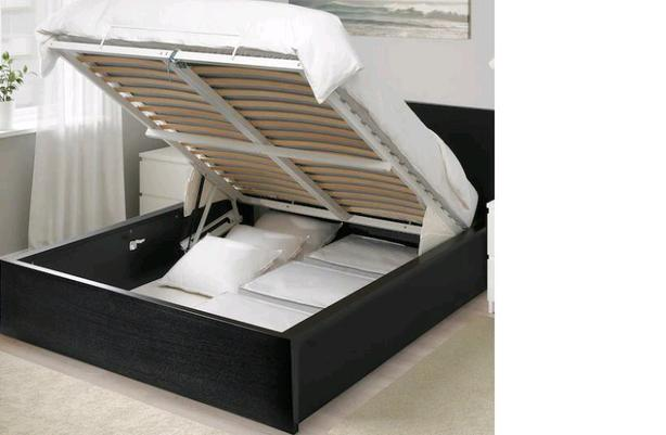 Move Out Sale - IKEA Queen Size Storage Bed Frame along with side table for Sale