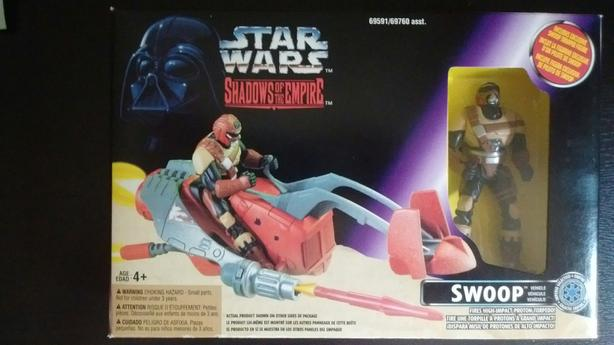 1996 MULTI LANGUAGE SHADOWS OF THE EMPIRE SWOOP BIKE & SWOOP TROOPER