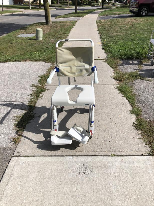 Medical aluminium shower commode transport chair