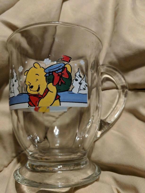 Disney Anchor Hocking Winnie The Pooh four Mug