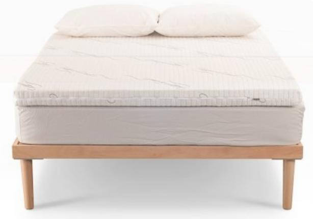 100% TALALAY LATEX MATTRESS TOPPER W/BAMBOO COVER