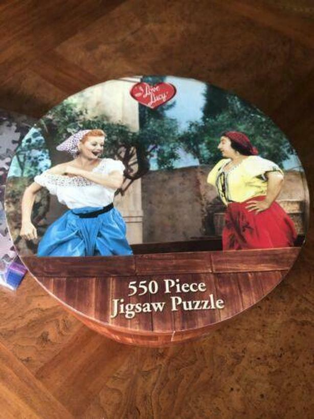 Lucy , puzzle ,550 pc , &  first season DVD 2012 six DVD set