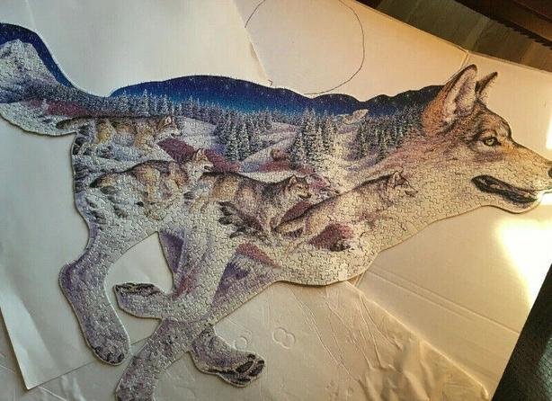 puzzle  Wolf Shape Puzzle