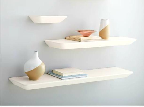 Pottery Barn White Shelves - (3 Shelves)