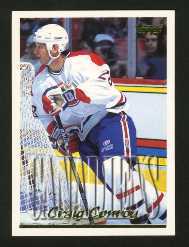 Craig Conroy Rookie Card Montreal Canadiens