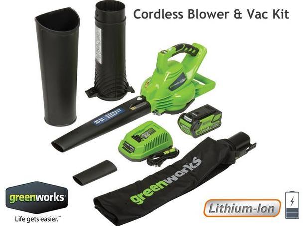 Cordless Blower & Vac ~ Lithium-Ion