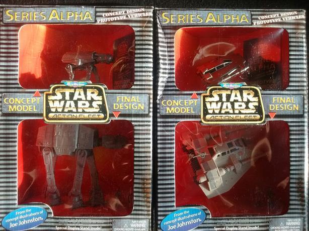 1996 Star Wars Series Alpha IMPERIAL AT-AT REBEL SNOWSPEEDER