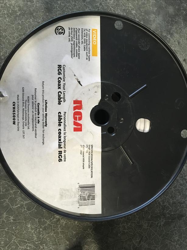 RG6 Coax Cable - Partial Spool