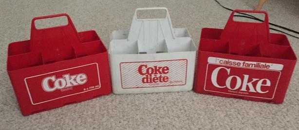 COCA-COLA/COKE PLASTIC 6 BOTTLE CRATE (VINTAGE)