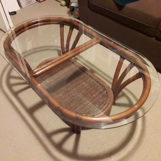 Wicker coffee table