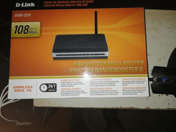 Dlink router and monitor