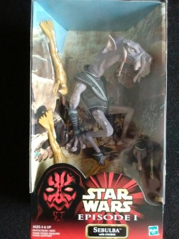"2000 Star Wars 12"" Episode 1  SEBULBA with CHUBAS"