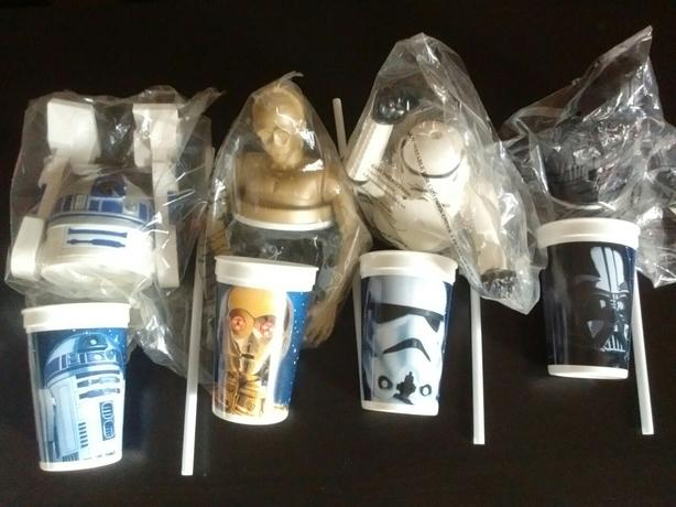 1996 Star Wars Cup Toppers,Straws & Cups Collection