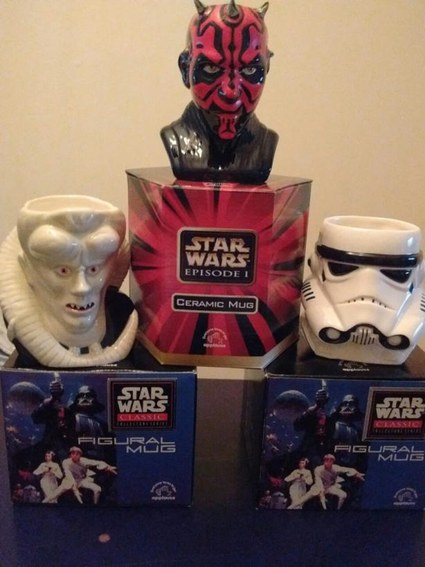 1995-1996 Star Wars Classic Collection Figural Mugs