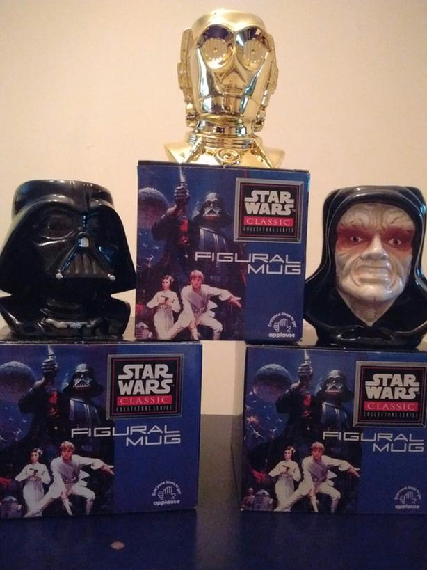 1995 Star Wars Classic Collection Figural Mugs