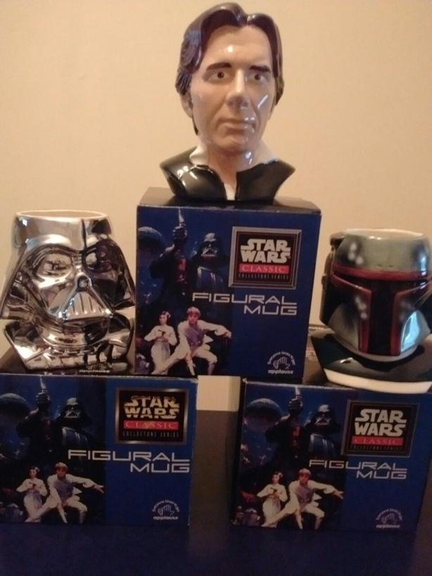 1995-1997 Star Wars Classic Collection Figural Mugs