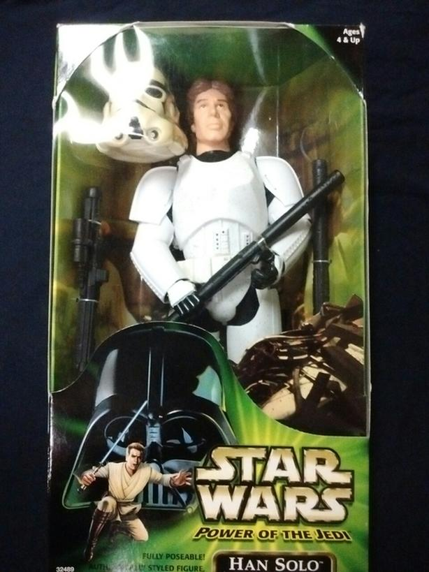"2001 HASBRO POWER OF THE JEDI 12"" ACTION FIGURE HAN SOLO"
