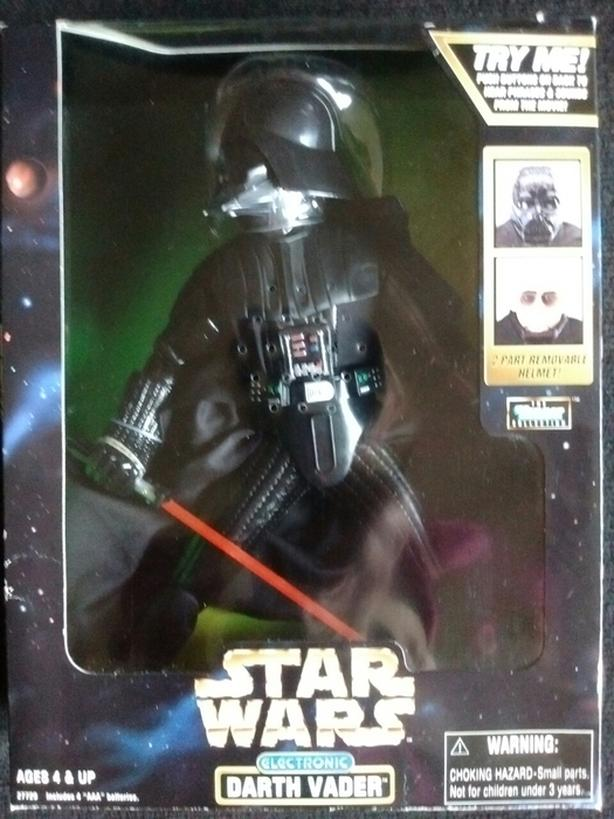 """1998 ELECTRONIC 12"""" DARTH VADER ACTION FIGURE"""