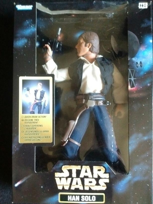 "1998 KENNER STAR WARS 12"" HANS SOLO ACTION FIGURE"