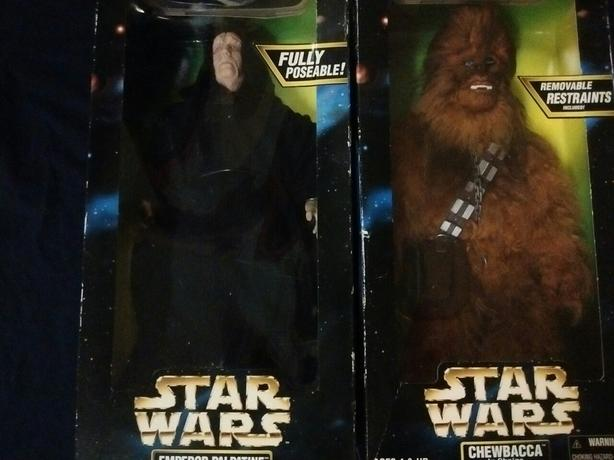 Kenner 1998 Star Wars Action Collection Figures CHEWBACCA  EMPEROR PALPATINE