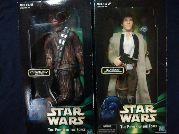 Hasbro 1999 Power of the Force Action Figures Hans Solo  Chewbacca