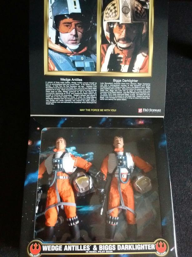 1998 Star Wars Action Collection WEDGE ANTILLES & BIGGS DARKLIGHTER