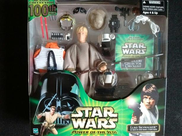 2000 STAR WARS POWER OF THE JEDI ACTION COLLECTION 100th FIGURE LUKE SKYWALKER