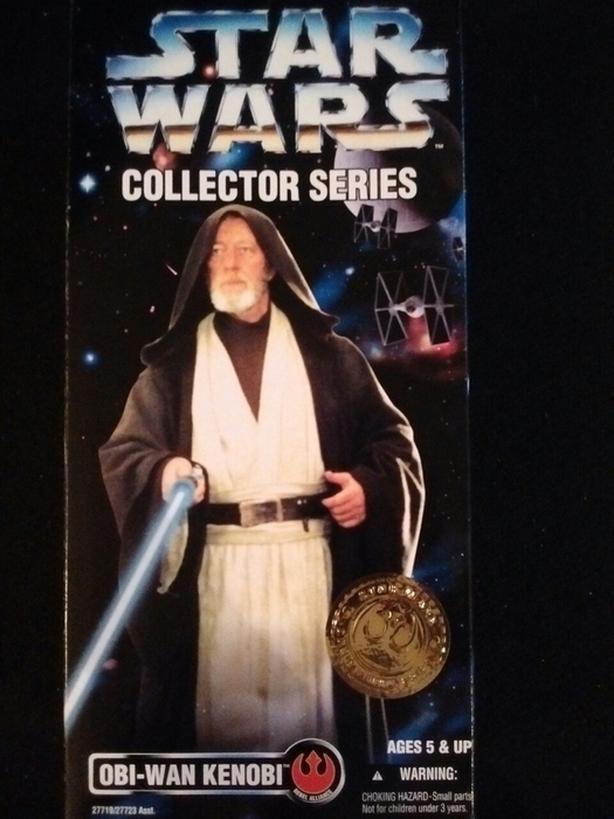 "1996 KENNER 12"" OBI-WAN KENOBI STAR WARS COLLECTOR SERIES ACTION FIGURE"