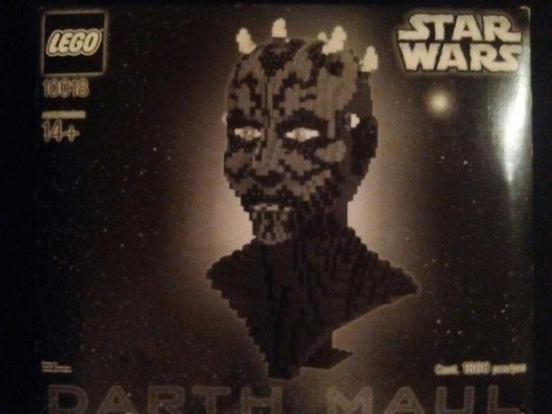 RARE 2001 STAR WARS 10018 DARTH MAUL LEGO HEAD