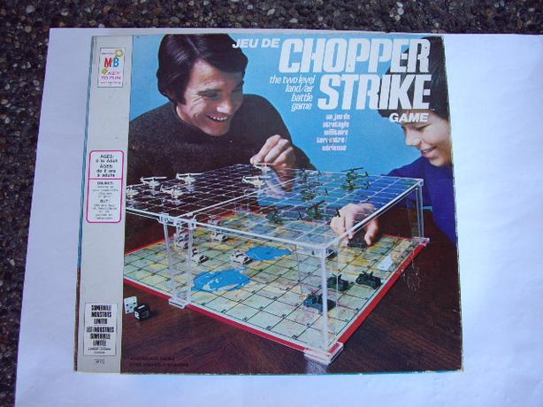 CHOPPER STRIKE 1976 BOARD GAME