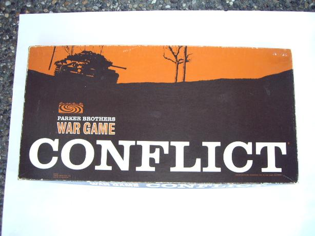CONFLICT WAR BOARD GAME PARKER BROTHERS 1964