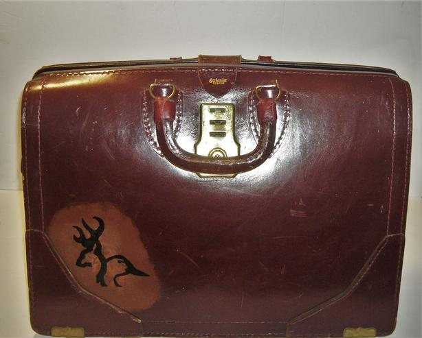 Leather Briefcase by Eatonia
