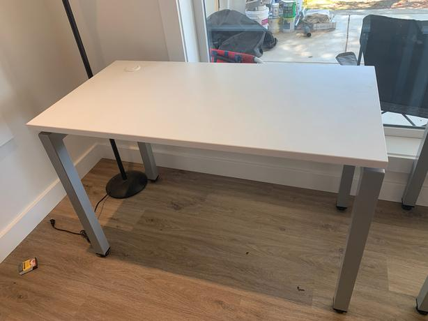 Modern White and Grey Desk