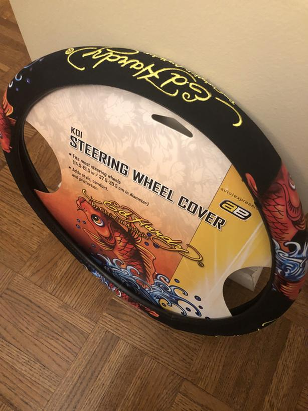 BNIB Ed Hardy Koi Steering Wheel Cover FIRM