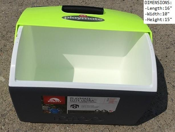 Cooler (Portable/One hand operation/Holds 30 cans/Dual opening swivel lid)