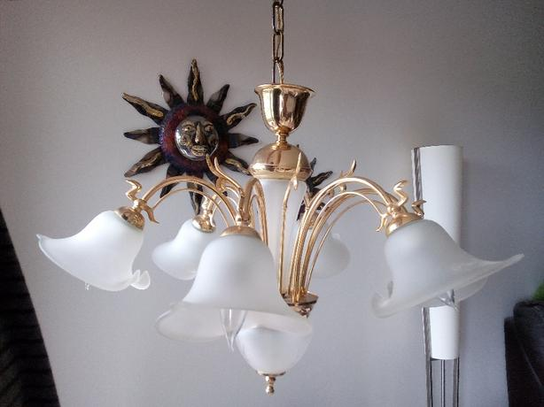 Gorgeous Chandelier with 8 spare vintage style bulbs