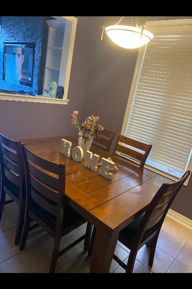 Table and 6 piece chair set