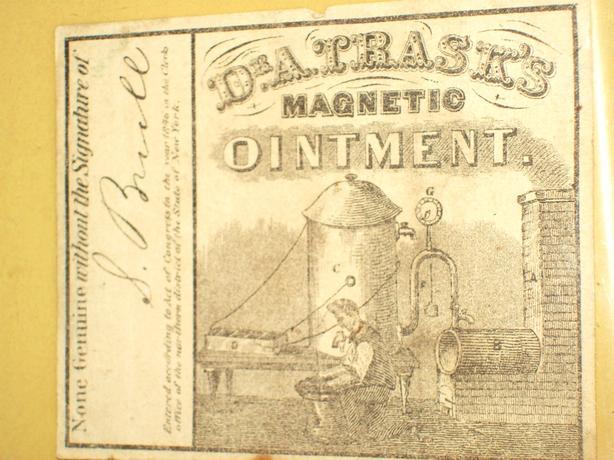 ANTIQUE 1846 DR. TRASK'S OINTMENT LABEL