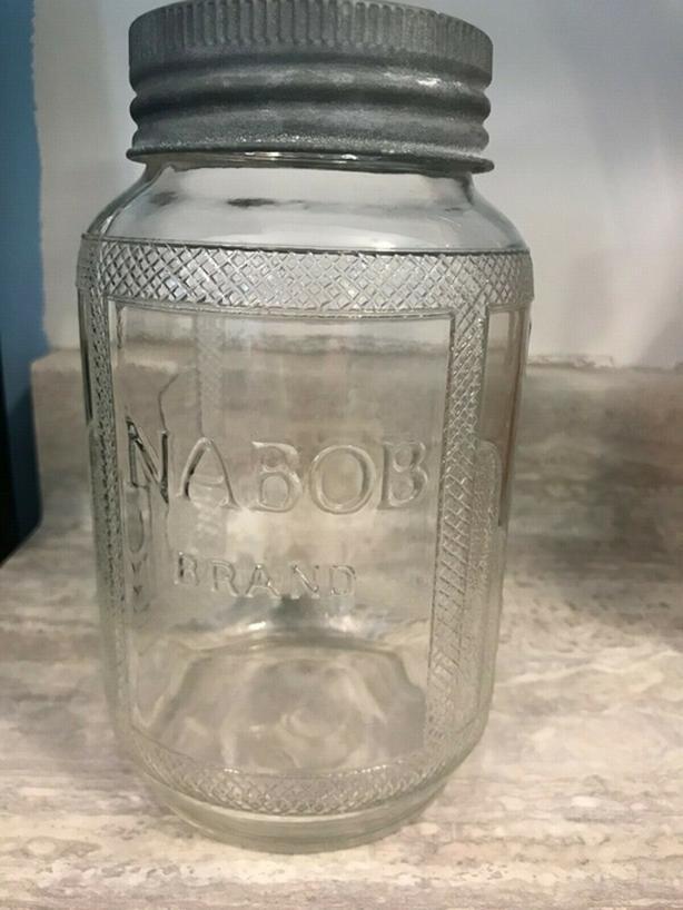 jar old nabob coffee jar