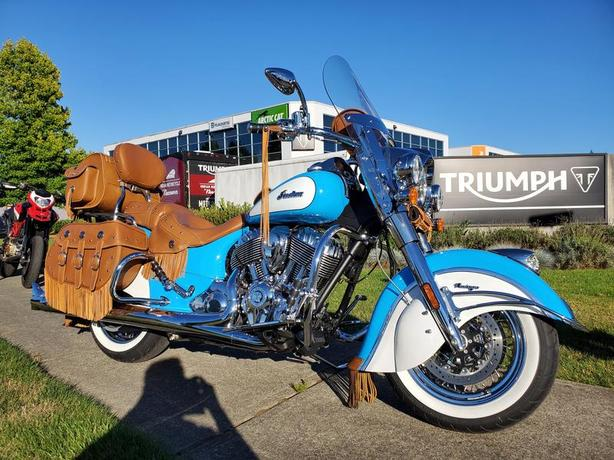 2019 Indian Motorcycle Chief Vintage Sky Blue / Pearl White