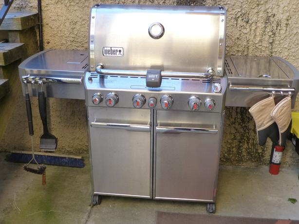 Weber Summit S-470 stainless propane bbq grill